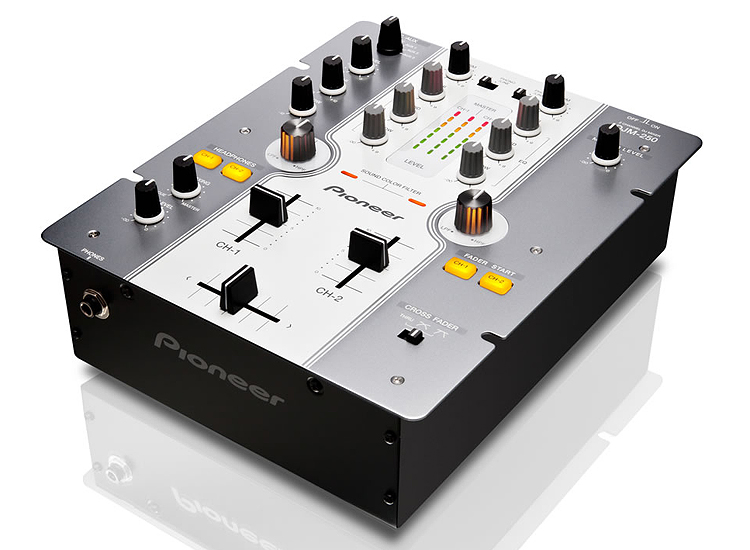 Pioneer DJM-250-W 2 Channel Mixer (White) :: Euro Baltronics