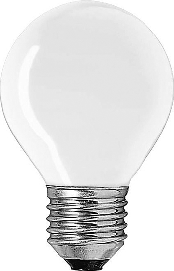GE Bulb Round Spherical E27 240V 15W Frosted Clear :: Euro