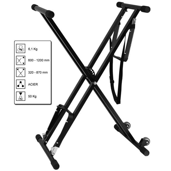 Audiophony KB-ROLL Keyboard Stand with wheels :: Euro