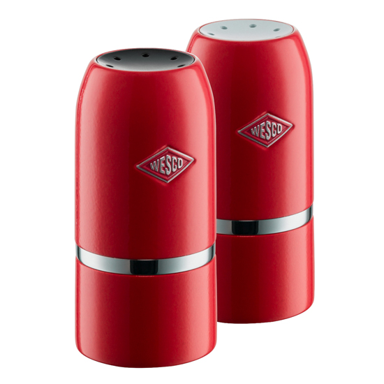 Wesco Salt Pepper Shaker Set Red Euro Baltronics Online Shop