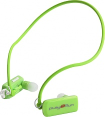 Play2run Rs 4 Sports Headphone Green Euro Baltronics